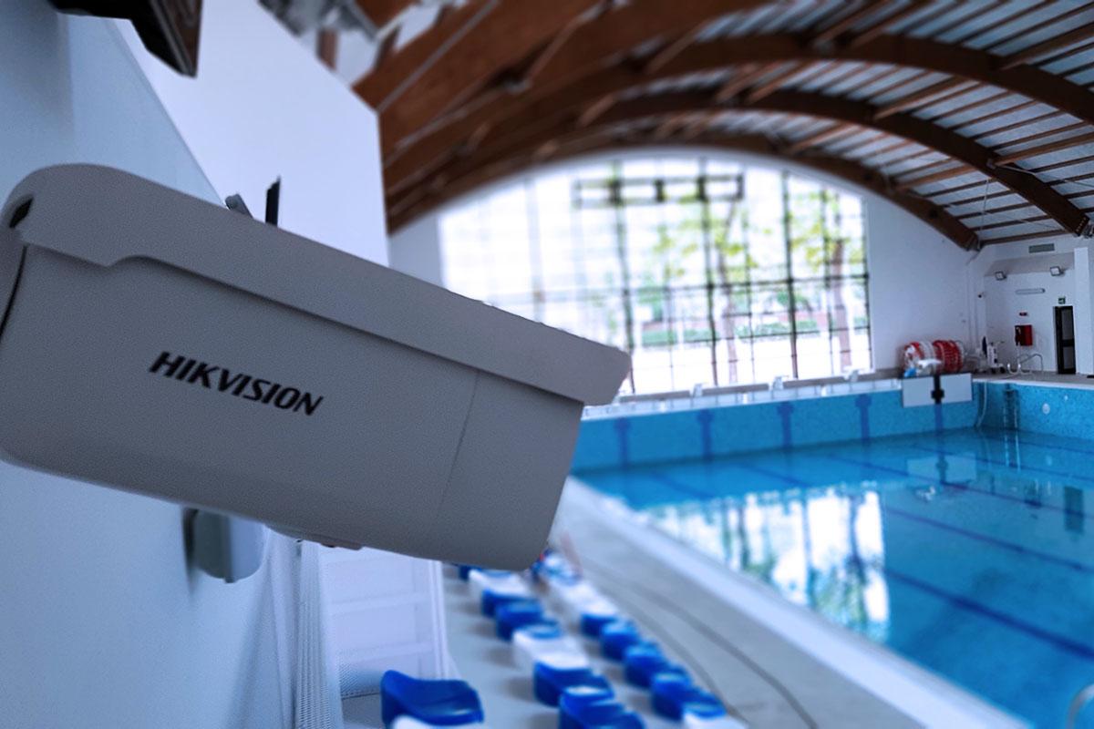 Sistem de supraveghere video bazin inot Scoala 190